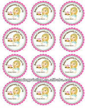 Personalized Cupcakes on a Tray Baking Stickers, Baking, Cupcakes, Sprinkles, Children, Hostess, Gift Tags, Party Favors