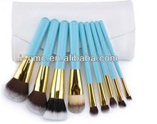 9 piece makeup powder/blush/stippling/foundation/blending/eye brush sets