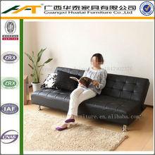 Furniture ,Simple PU leather sofa bed cheap leather sofas furniture,black sofa