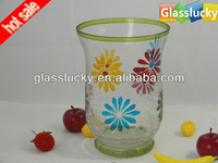 handmade yellow glass wedding decoration wholesale