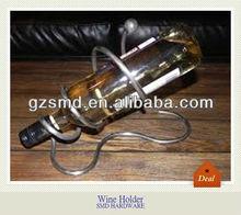 Single animal bottle metal swirl wine holder