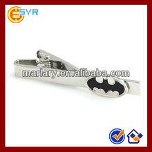 Tie Clip with Custom Black & Silvery Batman Logo