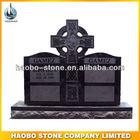 Haobo Celtic Cross Headstone, Double Gravestone Monument