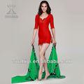 2013 mais recente da dança do ventre figurinos, china moda algodão vermelho de dança do ventre desgaste prática, dança do ventre vestido( qc2036)