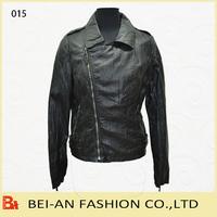 ladies motorbike jackets in pu leather
