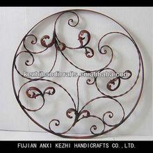 decorative metal round wall hanging art