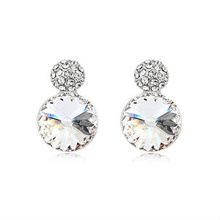 8340 2013 hot sale round stud earring crystal jewelry rhinestone earring