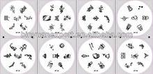 nail art stamping plates designs
