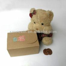 new custom kraft paper cupcake paper box