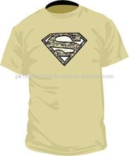 Cracked Superman & logo T-shirts/Super Heroes T-shirts/heroes T-Shirts/Cotton T-Shirts