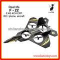 Modèle king 4 ch i phone control f-22 avion rc