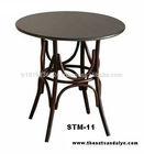 Table thonet handmade bentwood
