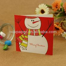 Full color printing handmade christmas cards sale