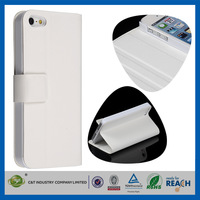 C&T White mobile phone accessories leather case for apple iphone 5c