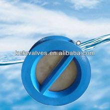 Wafer type rubber vulcanized check valve