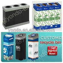 corrugated plastic recycle bin ,corrugated plastic trash bin,waste bin
