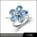 2013 cristal de diseño nuevo de la corona real anillos