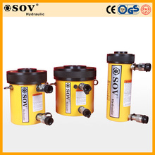 RRH-1003 100ton hollow hydraulic cylinder/jack with double acting for constructions