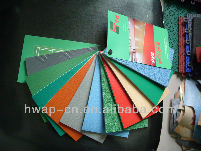 Various pattern PVC sport flooring for Various indoor sport courts