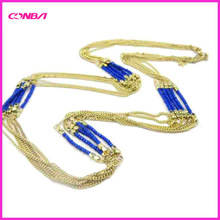 cheap gold long chain pearl necklace
