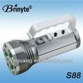 Brinyte nueva llegada de carga directamente de aluminio recargable cree led reflector br-s88