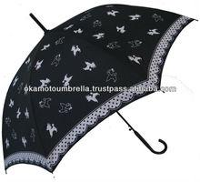 pet umbrella for women printed poodle dog-pink/black
