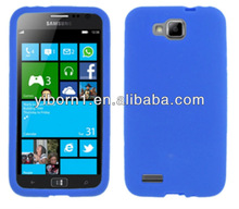 Blue Silicon Skin phone Case for Samsung Ativ S T899M for Dubai