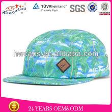 Blank 5 Panel Camp Hat Hawaii Custom Fabric 5 Panel Hat