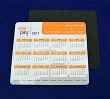 pvc laminated 2015 calendar mouse pad
