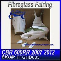 For HONDA CBR 600RR 2007 2012 Fiberglass Race Fairings FFGHD003