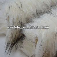 70mm white long plushed soft acrylic polyester imitation wolf fake fur fabric
