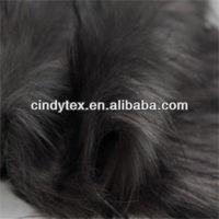 70mm grey long plushed soft acrylic polyester imitation wolf fake fur fabric