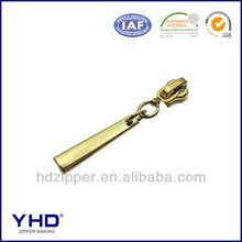 gold plated metal zipper slider