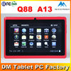 No brand Q88 7 inch Allwinner A13 tablet FCC CE RoHS cetification No brand Q88 7 inch android 4.0 tablet pc manual