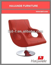 ARM CHAIR /RED COLOR ARMCHAIRS/SWIVEL LOUNGE CHAIR