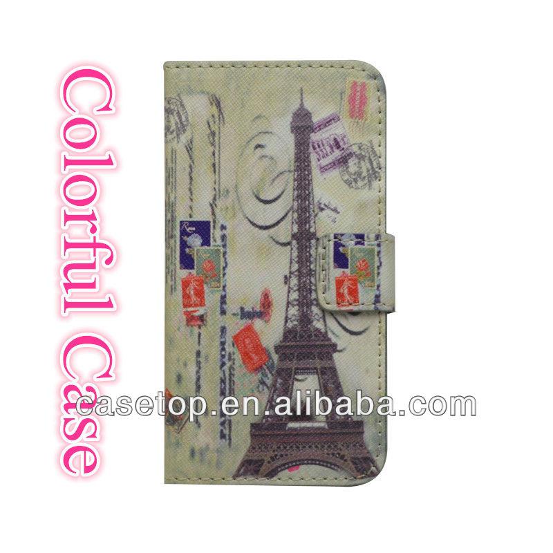حار بيع حقيبة جلد لآيفون 5 المحفظة مع فتحات بطاقة