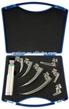 304 medical reusable blade Fiber Optic Laryngoscope set with CE and ISO13485