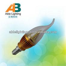 2013new product 110v dimmable led light 3w 360degree 3014-30smd e12 bulb chinese restaurant lighting
