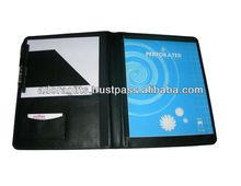 ADACF - 0009 custom portfolio folders presentation / a4 business file folders with credit card holder / wholesale padfolios