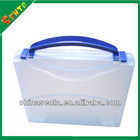 A4 clear plastic file case with handle