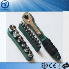 20 PCs bits Ratchet right angle screwdriver