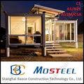 De alta qualidade bem concebido moderno bonito pvc casa pré-fabricada