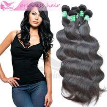 Alibaba china direct virgin peruvian human hair extensions body wave princess products
