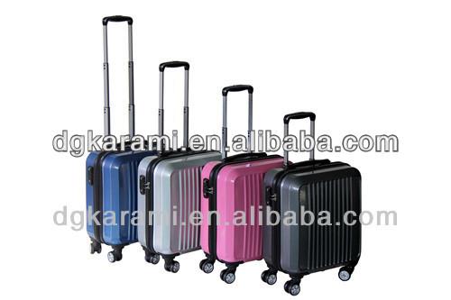 16 inch high-grade shiny pc trolley laptop bag with tsa lock