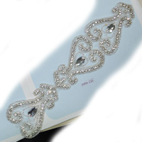 bridal trim embroidered rhinestone sew on patches WRA-230