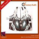 BROWN BLUE STAR ANGEL WINGS WESTERN COWGIRL shoulder bag Handbag Purse