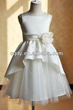 2014 Most Popular!Ellie's Bridal Cute Bowknot Satin Flower Girl Dress/White Princess Dress