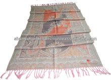 de lana de merino antiguo las mujeres paisley bufanda chal