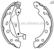 tractor brake shoes/auto parts/atv Brake shoes/none-asbestos