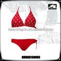 2014 nueva dama de la moda de ropa de playa de color rojo 2013 la moda del bikini